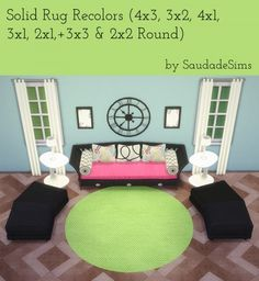Saudade Sims: Solid rugs recolors • Sims 4 Downloads