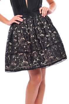 Analili Arora Lace Skirt In Black » This is a cute skirt!!