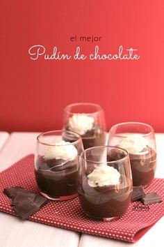 Pudín / budín de chocolate, cremosito, delicioso y fácil de hacer! Receta de www.annaspasteleria.com // Chocolate pudding!!