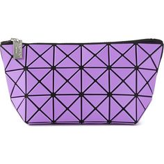 Issey Miyake Geometric Print Wash Bag found on Polyvore