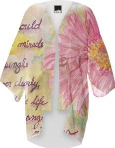 Watercolor Gerbera Daisy Kimono