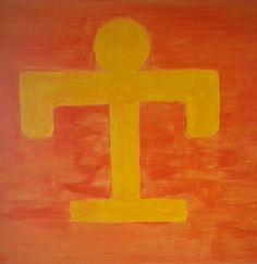 ROOTS - acrylic on canvas - cm.90x90 ... by Zeno Travegan (Enzo Gravante)