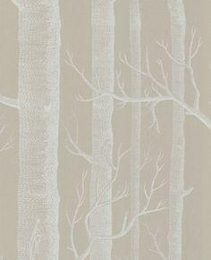 papel pintado arboles gris piedra   telas & papel