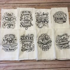 Choose any TWO embroidered flour sack towels by ShopBowAndSparrow (20.00 USD)