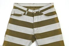 Helmut Lang 1999 Compact Cotton Jeans with Printed Stripes Very RARE | eBay