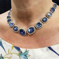 Sapphire & Pearl Necklace, Circa 1820 #bellandbird #justfound