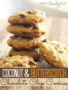 These coconut butterscotch chocolate chip cookies are just as good as any cookie made with butter or shortening.. but they are better for you!