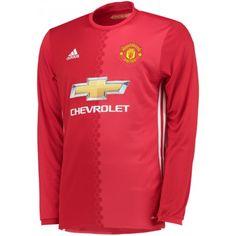 Manchester United Home Long Sleeve Shirt 2016 2017 - Discount Football  Shirts d77687a8a9808