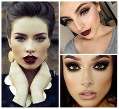 winter makeup trends 2018, stylish cats eyes with dark lips