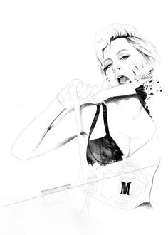 Crosshatched Celebrity Drawings : David Despau
