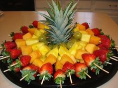 espetadas de fruta festa Mais