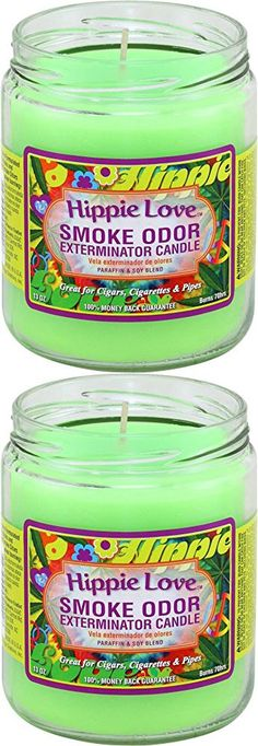 Smoke Odor Exterminator 13oz Jar Candle, Hippie Love
