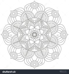 Oriental pattern. Traditional round coloring ornament. Mandala. Adult coloring. Round Ornament Pattern. Geometric circle element made in vector.