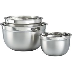 Used our wedding gift card from my friend Jen to purchase these fab mixing bowls! Stainless Steel Nesting Mixing Bowl Set in Mixing Bowls Plastic Crates, Kitchenware, Tableware, Cooking Gadgets, Mixing Bowls, Traditional Kitchen, Kitchen Essentials, Crate And Barrel, Household Items