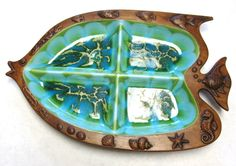 Treasure Craft  Platter Divided Serving Tray by sweetie2sweetie, $17.99