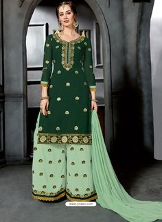 Nallu Collection offers whole new range of ethnic wear like prat-a-porter, designer's collection, wedding lehengas & sarees, ethnic suits, saries and fabric for women. Pakistani Salwar Kameez, Anarkali Suits, Sharara Suit, Indian Wedding Outfits, Pakistani Outfits, Palazzo Suit, Palazzo Style, Casual Dresses, Fashion Dresses
