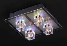 NIEMIECKA LAMPA,PLAFON *KRYSZTAŁ* LED-9 KOL.+PILOT (4659264273) - Allegro.pl - Więcej niż aukcje.