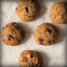 Millet Almond Oat Cookies with Chocolate chips. Gluten-free Vegan Recipe  Almond flour, oat flour, millet flour