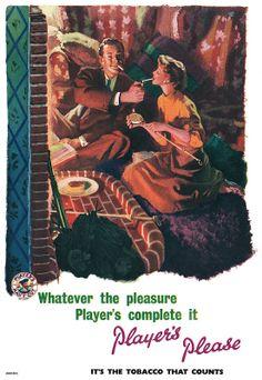 1953 Player's Cigarettes ad