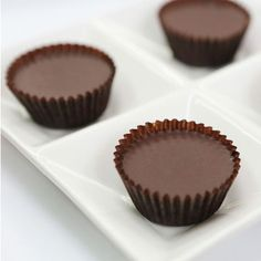 Chef Richard's Homemade Chocolate Peanut Butter Cups  1 cup dark chocolate chips 2 tablespoons coconut oil ¾ cup organic creamy unsalted peanut butter 2 tablespoons melted coconut oil ½ teaspoon vanilla extract Pinch of salt