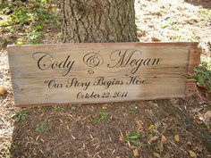 Wooden Barn Board Sign by Lovetheunique on Etsy, $70.00