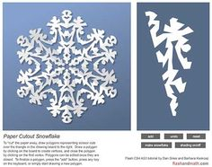 I love this paper snowflake pattern - so intricate!