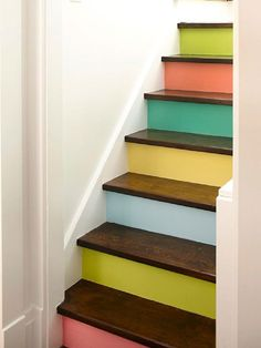 Escalier multicolore
