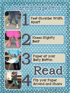 This class poster is a free item intended to enhance your own Monthly Writing Prompt for Class Share Time Program   Set your students up for Sharing Page success with this handy class poster. Post it in your classroom and get your students' bodies and minds set for successful public speaking in the classroom!