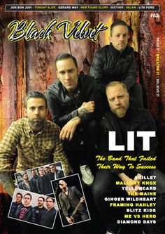 Black Velvet Issue 83  Issue 83 includes: Interviews with Lit, Skillet, Mallory Knox, Yellowcard, The Maine, Ginger Wildheart, Framing Hanley, Blitz Kids, Me Vs Hero, Diamond Days. Concert reviews of Jon Bon Jovi, Gerard Way, Tonight Alive, New Found Glory, Delain, Seether, Warrant/Lita Ford, Hillbilly Herald, Down 'n' Outz, Lit, Mallory Knox, Skillet, Framing Hanley & Me Vs Hero. And more!   Read over at www.blackvelvetmagazine.com