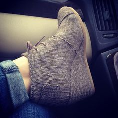 toms herringbone wedge booties.