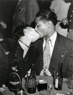 Kiss.Photo by Weegee c. 1950s