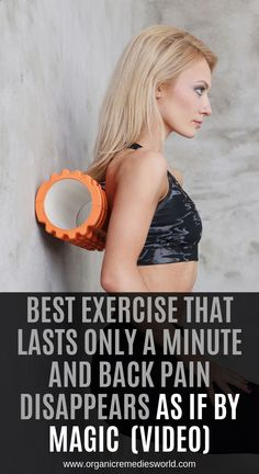 Best Exercise That Lasts Only a Minute and Back Pain Disappears As If By Magic! (Video) - The Healthy Media Health Tips For Women, Health Advice, Health And Beauty, Health Care, Beauty Skin, Women's Health, Mental Health, Healthy Women, Healthy Tips