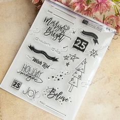 Day Month Year Transparent Clear Silicone Stamps Alphabet Letters Numbers Eco-friendly PVC Planner Stamp Sets Kid Adult DIY Craft Scrapbooking Card Making Diary Album Decorating Stationery Tool