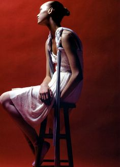 gemma ward in 'think pink', photographed by steven meisel for vogue italia.
