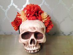 FLOWER CROWN Flower Headband Burnt Orange by LaCatrinaDeSanDiego