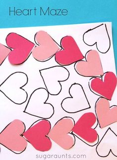 Visual perceptual activity with a DIY heart maze for Valentines Day.  This is a good way to practice visual scanning, visual spatial relations, eye-hand coordination, and line awareness.