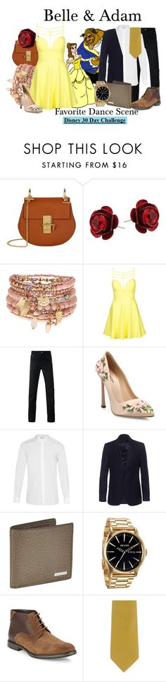 """Belle & Adam"" by megan-vanwinkle ❤ liked on Polyvore featuring Chloé, Michal Negrin, Accessorize, Disney, Topshop, Givenchy, Giambattista Valli, Yves Saint Laurent, Melindagloss and BOSS Hugo Boss"