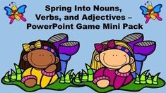 This mini bundle will help your students review the concepts of nouns, verbs, and adjectives. It includes three PowerPoint Games about these three different parts of speech. The cost of this bundle is about 15% off the price of the three PowerPoint Games. They can also be purchased separately for $2.75 each. Please note that these games have a spring theme, not Easter.