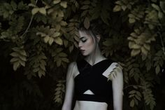 Girl in leaves - Girl in leaves.