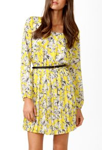 Essential Sketched Floral Dress - I love the pattern!