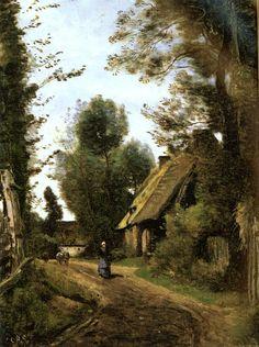 Jean-Baptiste -Camille Corot  Paintings-Saint-Quentin-Des-Pres(Oise), Pres Gournay-En-Bray