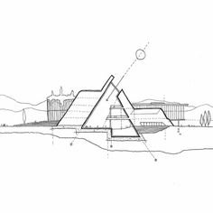 Interesting Find A Career In Architecture Ideas. Admirable Find A Career In Architecture Ideas. Architecture Graphics, Concept Architecture, Architecture Drawings, Architecture Details, Sections Architecture, Pavilion Architecture, Landscape Architecture, Ing Civil, Section Drawing