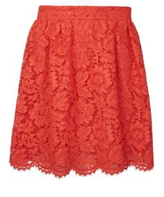 Shop on-sale Guipure lace mini skirt. Browse other discount designer Mini Skirt & more luxury fashion pieces at THE OUTNET Lace Mini Skirts, Red Skirts, Lace Skirt, Short Skirts, Red A Line Skirt, A Line Skirts, Valentino Women, Skirts For Sale, Fashion Outlet