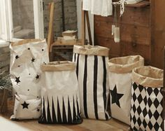 Storage Bin, Storage Basket, Geometric paper bag storage, paperbag storage,Toy Basket
