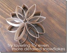 1000 images about toilet paper wall art on pinterest for Snowflake out of toilet paper rolls