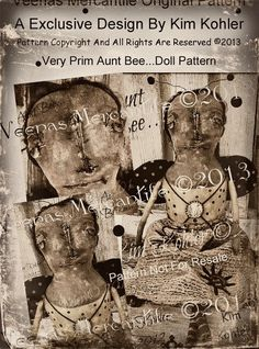 PDF E Email Bee Primitive Doll Pattern