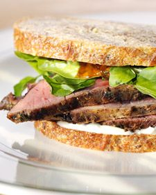 This recipe for Lamb Sandwich from Martha Stewart is a delicious lunch treat. Lamb Recipes, Meat Recipes, I Love Food, A Food, Lamb Sandwich, Ultimate Grilled Cheese, Mint Jelly, Lamb Burgers, Martha Stewart Recipes
