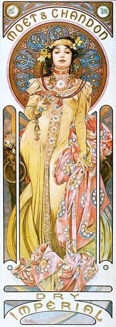 Alfons Mucha - Moët & Chandon - Dry Impérial - 1899