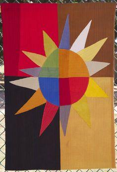 Sheltered Sun  Fabric art by Robin Ferrier