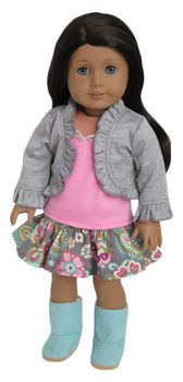 Trendy shrug outfit for American Girl Doll.